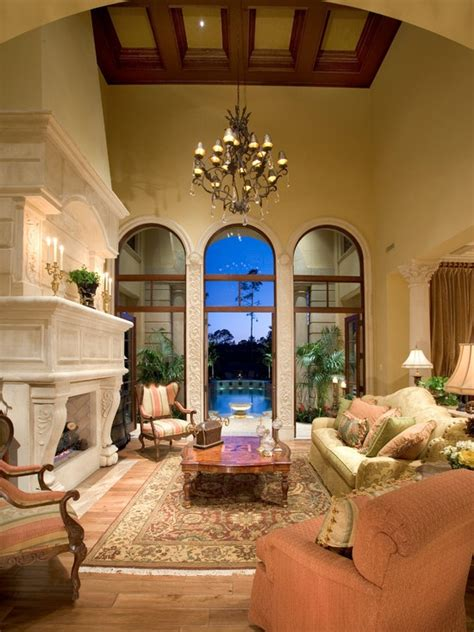 mediterranean living room decor 14 best images about high ceiling living room on tuscan homes noguchi coffee table