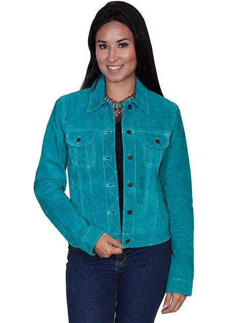 scully ladies leather suede jacket western jean jacket