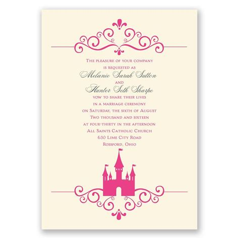 Fairy Tale Castle Invitation Invitations By Dawn Fairytale Wedding Invitation Templates