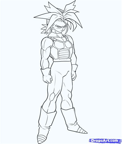 dragon ball z trunks coloring pages how to draw super saiyan trunks step by step dragon ball
