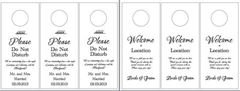 Hotel Door Hangers Hayley S Wedding Tips 101 Vistaprint Large Door Hanger Template