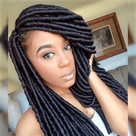 how to lock hair pictures cute crochet faux locs ig heycurlie naturalhairmag