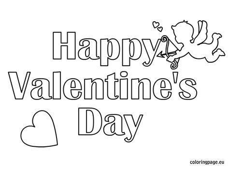 Happy Valentine S Day Coloring Coloring Page Happy Valentines Day Coloring Page