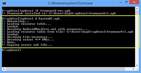 decompile systemui apk tutorial decompile dan compile apk menggunakan apktool di pc www ncoprekdroid
