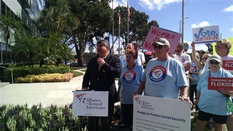 Social Security Office Orlando Fl by Afl Cio President Rich Trumka Activists Call Marco Rubio