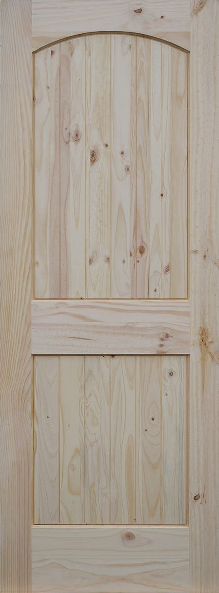 Knotty Pine Exterior Doors Knotty Pine Arch 2 Panel Doors With V Grooved Raised Panels Homestead Doors