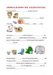 english teaching worksheets comparison of adjectives