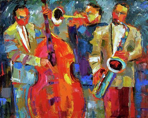all artist all night jazz painting by debra hurd