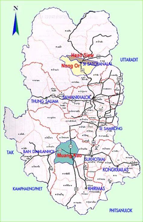 sukhothai historical park map map of sukhothai