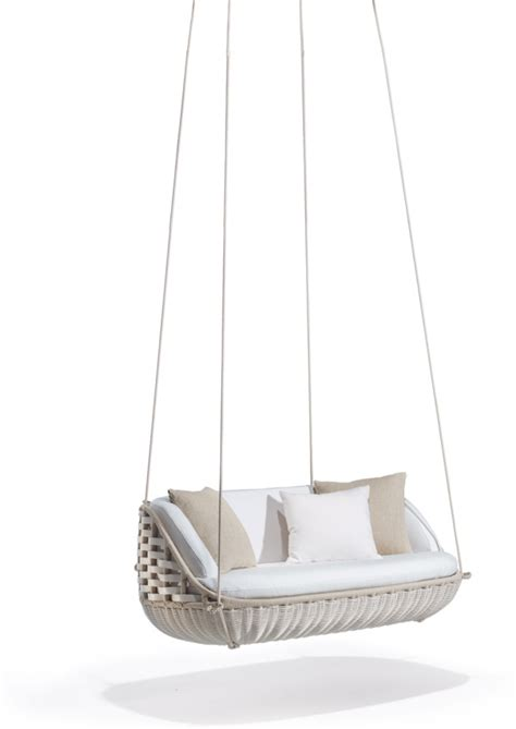 dedon swing the world s first floating outdoor living room design milk