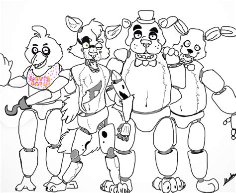 five nights at freddy s coloring book mega coloring book fnaf exclusive work books coloriages five freddy