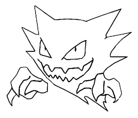 pokemon coloring pages of gastly coloring pages pokemon haunter drawings pokemon