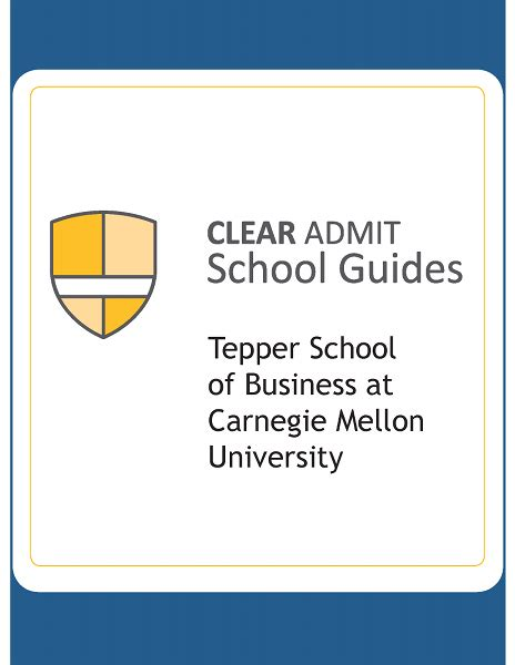 Cmu Tepper Mba Questions by School Guide Tepper School Of Business
