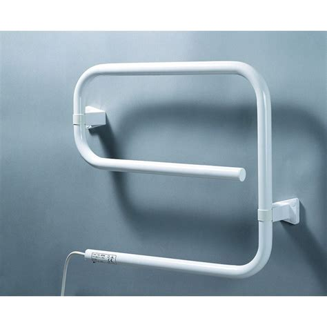 bathroom electric towel rail heaters sunhouse str50w 50w electric bathroom towel rail in white