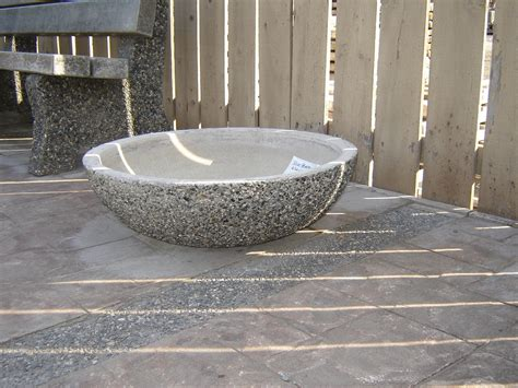Precast Concrete Planter by Bowl Planters Exposed Aggregate Concrete Mackay