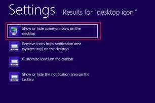 how to show and hide desktop icons on windows 8 computer
