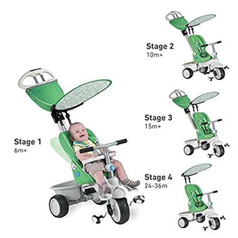 reclining smart trike smart trike recliner 4 in 1 tricycle green toy in the