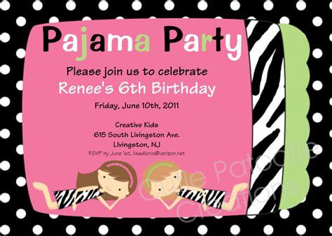 design invitation for birthday party invitations best pajama party invitation design