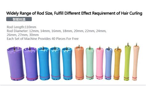 show the different sizes of perm rods 2014 new arrival digital hair perm machine kia precise