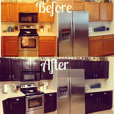 general finishes java gel stain kitchen cabinets kitchen makeover for about 100 give your orange oak