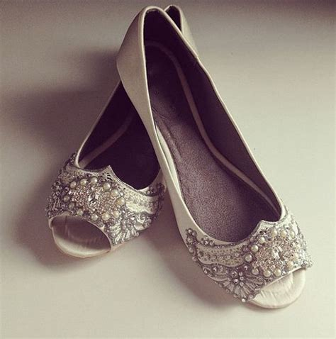 Ballet Wedding Shoes by Gatsby Peep Toe Ballet Flat Wedding Shoes By