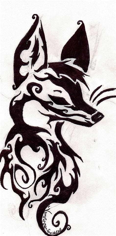 tribal fox tattoo addict