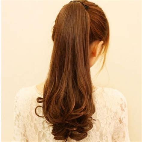 Rambut Palsu Hairclip Biglayer Curly Sosis jual wig rambut palsu volume kuncir panjang curly warna light hair clip dravinshop