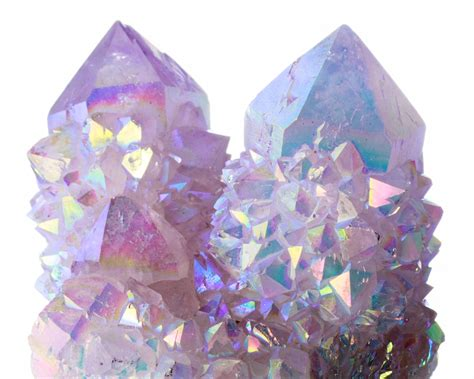 aura crystals 3 5 quot iridescent rainbow spirit quartz crystal group no