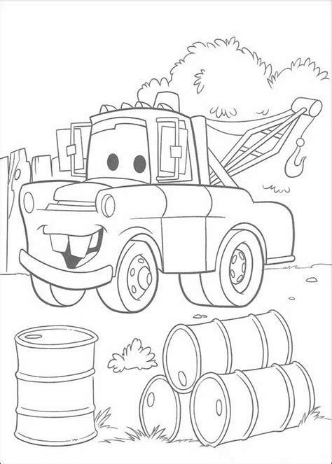 Mater From Cars Coloring Pages Coloring Pages Mater Coloring Pages