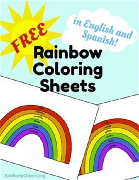 the colors of the rainbow in spanish 187 learning spanish 1000 images about free dual immersion resources on