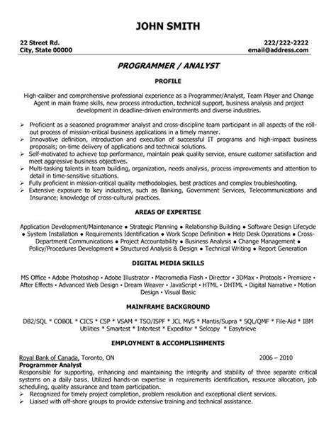 Program Analyst Resume Sample & Template