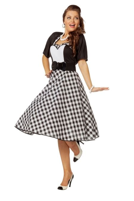 60er 70er rock n roll kleid 60er 70er jahre rockabilly mottoparty