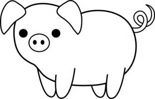 pig template black and white pig clip piglets