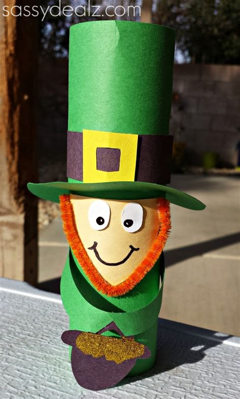 Leprechaun Toilet Paper Roll Craft - raising memories the ultimate list of 100 st