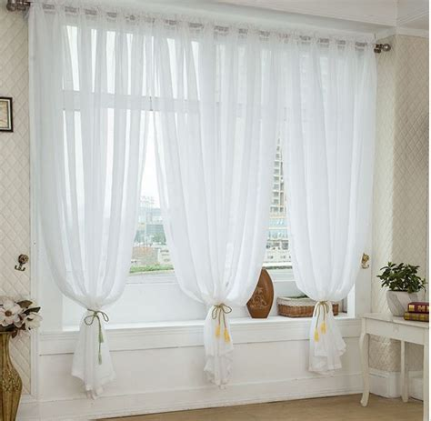 Gray Sheer Valance Fashion High Quality Product Tulle Curtains Modern Voile