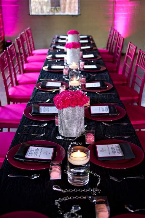 glamourous hot pink birthday party  sophia barrett