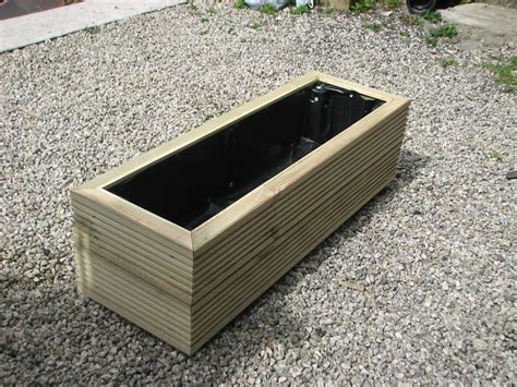 Make Planters by 6 Timber Planters Troughs From New Decking Board Carpentry Joinery In Hendon