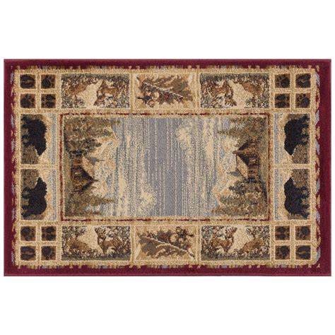 2 x 3 accent rugs tayse rugs nature red 2 ft x 3 ft accent rug ntr6700 2x3