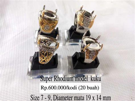 20 Buah Ring Cincin Titanium Wanita Silver Impor jual grosir ring emban ikat cincin rhodium kombinasi grosir cincin murah