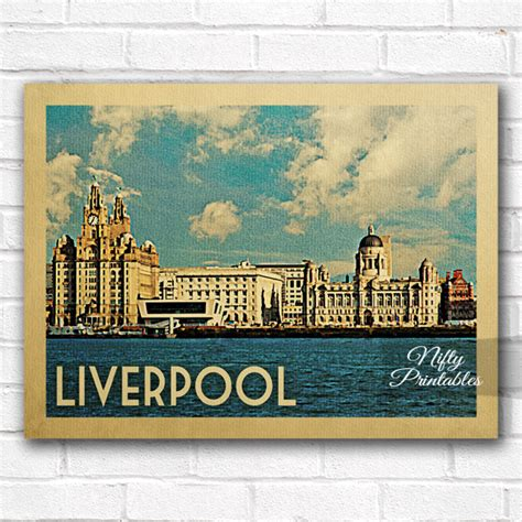 Liverpool The 12th Poster Kayu 30x22 liverpool vintage travel poster nifty printables