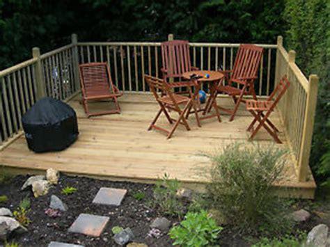 Patio Deck Kit by Raised Deck Kit 3m Boards X3 1m Timber Garden Caravan