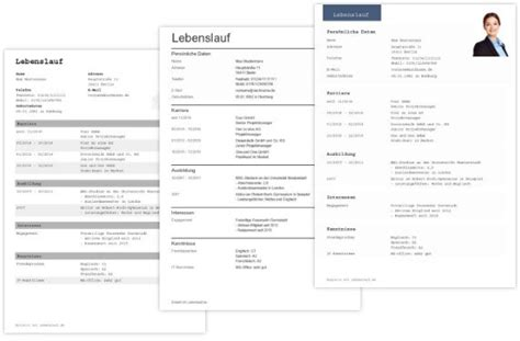 Lebenslauf Vorlage Tabellenform Tabellarischer Lebenslauf Vorlagen In Word Chip Cv Parsing Optimiert Vorlage Muster