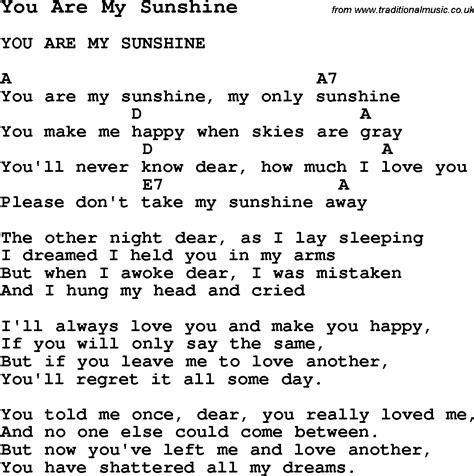 summer c song you are my sunshine with lyrics and you are my sunshine unforgettable quotes pinterest