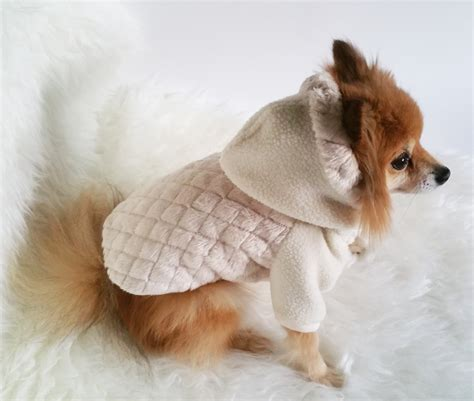Handmade Coats - handmade beige coats puppy clothes pet hoodies small