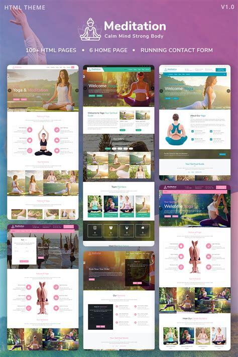bootstrap templates for yoga meditation yoga fitness meditation mobile responsive