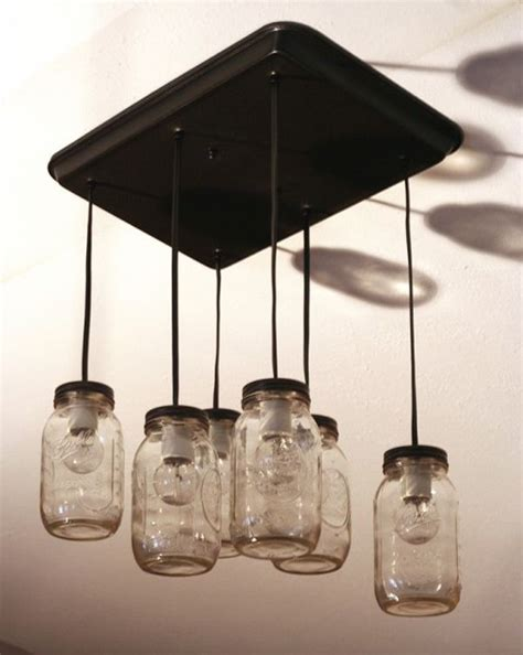 Light Pendants Over Kitchen Islands turning mason jars into light fixtures