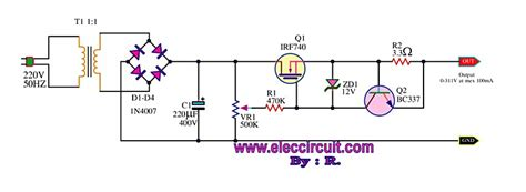 Sepatu Variable Low the variable high voltage power supply 0 300v circuit