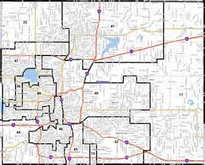 city map with county lines midcity legislators comment on district lines for senate