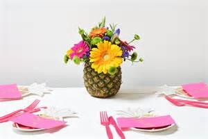 Christmas Centerpiece For Table - diy tropical pineapple flower arrangement party pieces blog amp inspiration