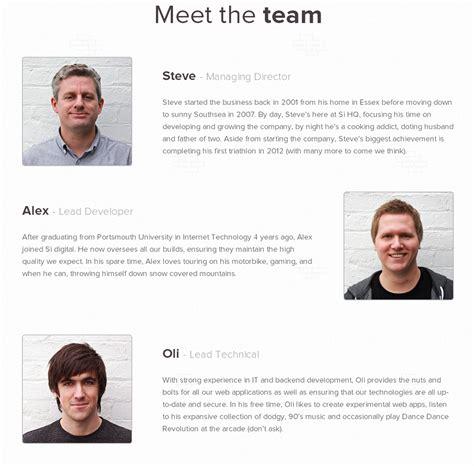 biography layout design 17 team bio design at sidigital ideas for bios pinterest